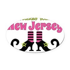 Wicked Witch of New Jersey Oval Car Magnet