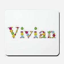 Vivian Bright Flowers Mousepad