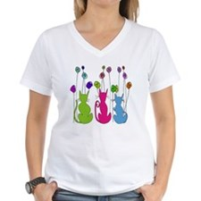 Whimsical Cats and Flowers  Shirt