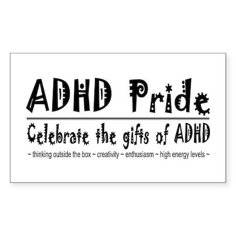 ADHD Pride Rectangle Sticker