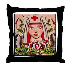 Nurse Healing Throw Pillow