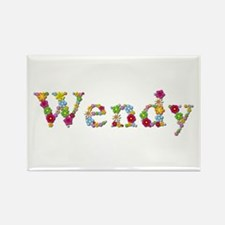 Wendy Bright Flowers Rectangle Magnet