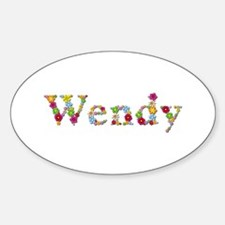Wendy Bright Flowers Oval Decal