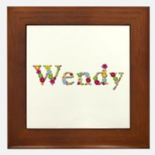 Wendy Bright Flowers Framed Tile