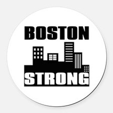 Boston Strong: Round Car Magnet