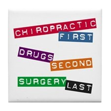 Chiropractic First Tile Coaster