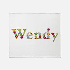 Wendy Bright Flowers Throw Blanket
