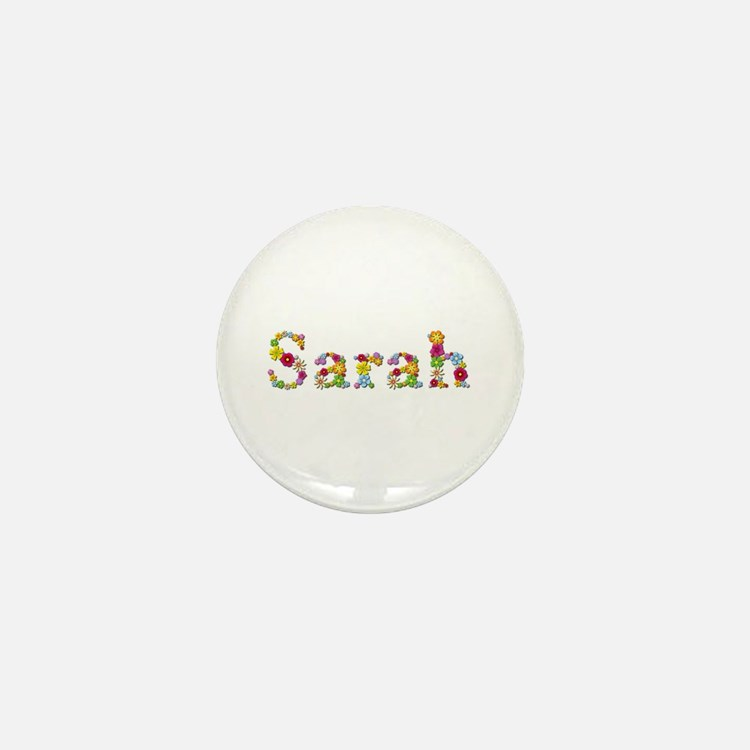 Sarah Bright Flowers Mini Button