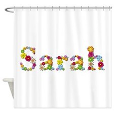 Sarah Bright Flowers Shower Curtain