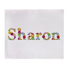Sharon Bright Flowers Throw Blanket
