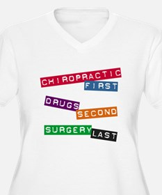 Chiropractic First Women's Plus Size V-Neck Tee