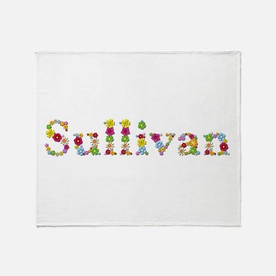 Sullivan Bright Flowers Throw Blanket