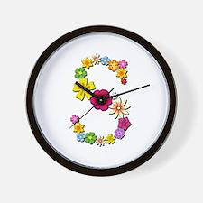 S Bright Flowers Wall Clock
