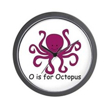 O is for Octopus Wall Clock