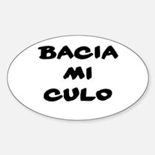 Bacia mi culo Oval Decal