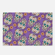 Sugar Skull Halloween Pur Postcards (Package of 8)
