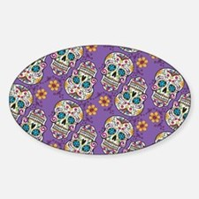 Sugar Skull Halloween Purple Decal