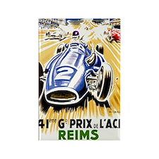 Vintage 1954 French Grand Prix Au Rectangle Magnet