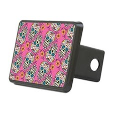 Sugar Skull Halloween Pink Hitch Cover