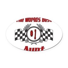 Racing1AUNT.png Oval Car Magnet