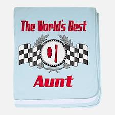 Racing1AUNT.png baby blanket