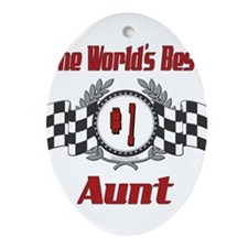 Racing1AUNT.png Ornament (Oval)