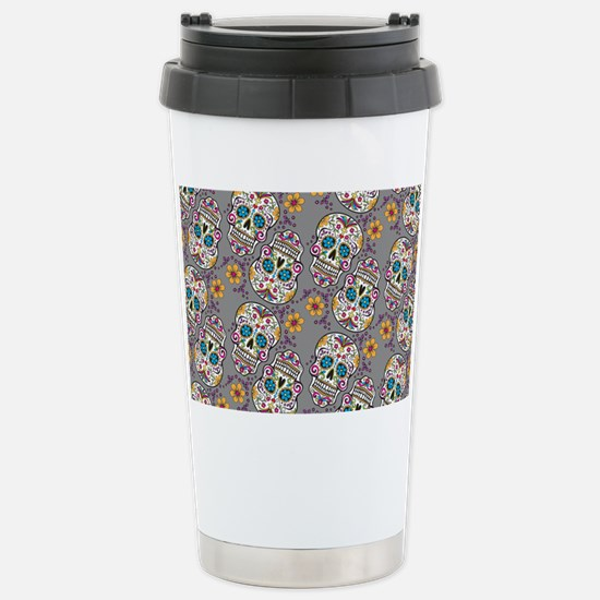 Sugar Skull Halloween G Stainless Steel Travel Mug