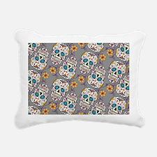 Sugar Skull Halloween Gr Rectangular Canvas Pillow
