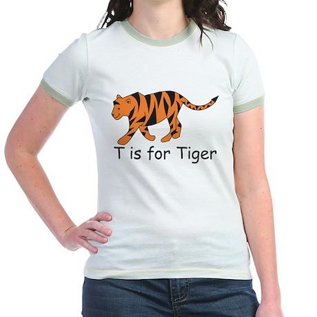 T is for Tiger Jr. Ringer T-Shirt
