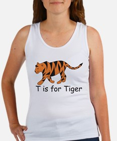 T is for Tiger Women's Tank Top