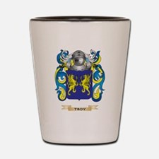 Troy Family Crest (Coat of Arms) Shot Glass