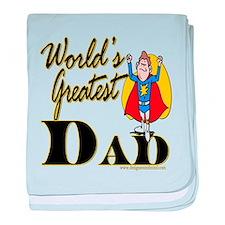 Superdadworldsdad copy.png baby blanket