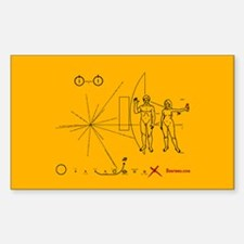 Pioneer 10 Plaque v3 Decal