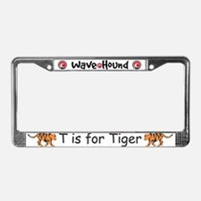 T is for Tiger License Plate Frame