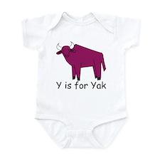 Y is for Yak Infant Bodysuit