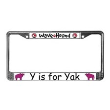 Y is for Yak License Plate Frame