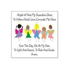 "Childs Catholic Prayer Square Sticker 3"" x 3"""