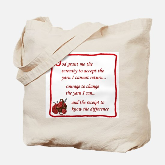Yarnaholic prayer Tote Bag