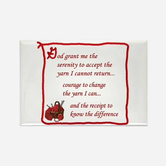 Yarnaholic prayer Rectangle Magnet