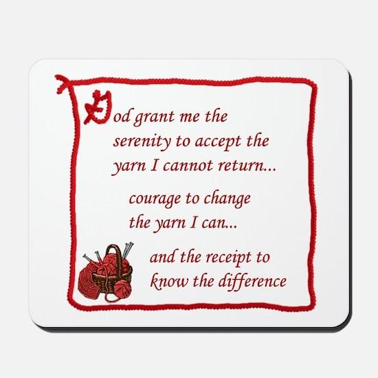 Yarnaholic prayer Mousepad