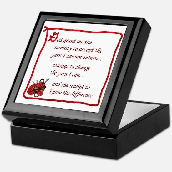Yarnaholic prayer Keepsake Box