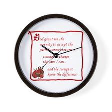 Yarnaholic prayer Wall Clock