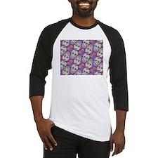 Sugar Skull Halloween Purple Baseball Jersey