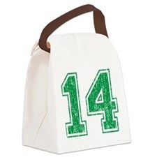 Retro 14 Green Canvas Lunch Bag