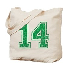 Retro 14 Green Tote Bag