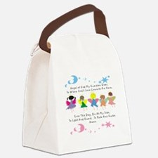 angel of God Twin WHITE Canvas Lunch Bag