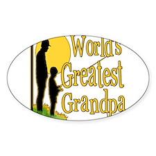 FishingGreatestgrandpa copy.png Sticker (Oval 50 p