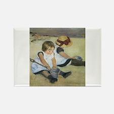 Mary Cassatt Children Playing on the Beach Magnets