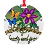 Butterflygrandmother.png Round Ornament