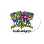 Butterflygrandmother.png Oval Car Magnet